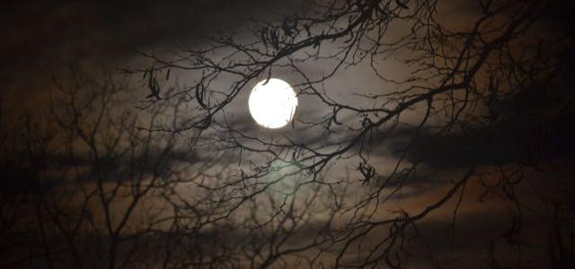 Moon full dark