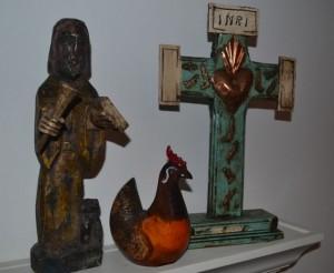 cross rooster jesus
