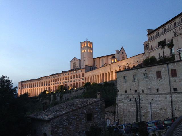 Assisi at dusk