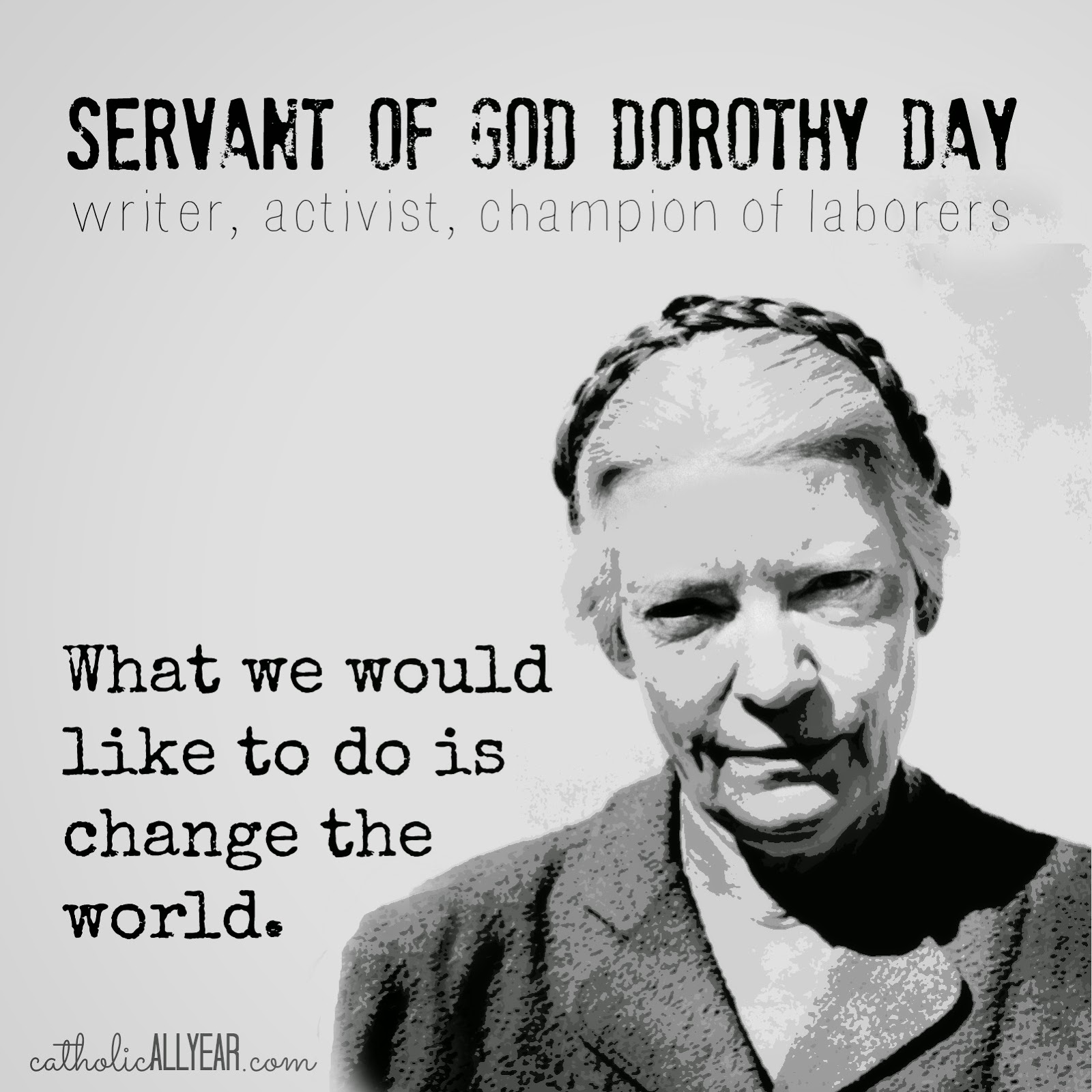 dorothy day essay Dorothy day, saint-worthy essays: over 180,000 dorothy day, saint-worthy essays, dorothy day, saint-worthy term papers, dorothy day, saint-worthy research paper.